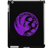 Traditional Purple Chinese Phoenix Circle iPad Case/Skin