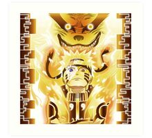 The Nine Tails Jinchuuriki Art Print