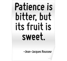 Patience is bitter, but its fruit is sweet. Poster