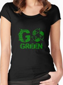 Recycle Tshirt Women's Fitted Scoop T-Shirt