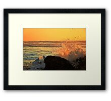 waves watching Framed Print
