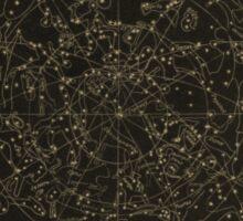 Vintage Astronomy Constellation Star Map Sticker