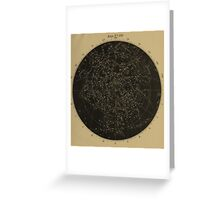 Vintage Astronomy Constellation Star Map Greeting Card
