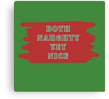 Both Naughty Yet Nice Canvas Print