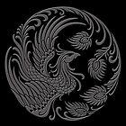 Traditional Dark Chinese Phoenix Circle by Jeff Bartels