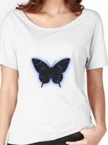 Electric Blue Butterfly Women's Relaxed Fit T-Shirt
