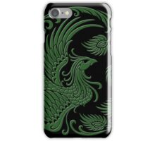 Traditional Green and Black Chinese Phoenix Circle iPhone Case/Skin