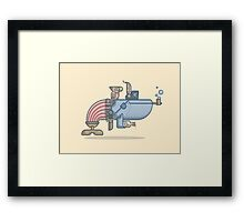 Pirate Whale Framed Print