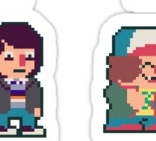 Adorable Stranger Things Pixel Sticker Set! Sticker