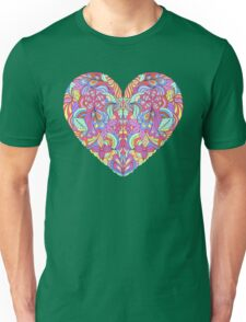 abstract colorful heart  Unisex T-Shirt