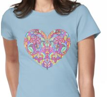 abstract colorful heart  Womens Fitted T-Shirt