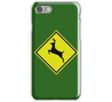 Reindeer crossing  iPhone Case/Skin