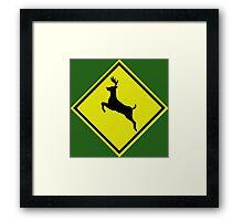 Reindeer crossing  Framed Print
