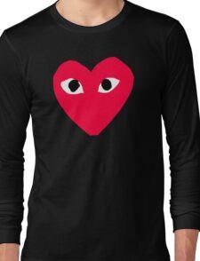 CDG Red Long Sleeve T-Shirt