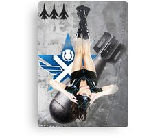 Scottish Air Force Bomber Girl Metal Print