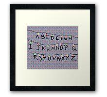 Stranger Things Alphabet Framed Print