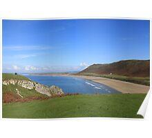 Rhossili Beach, Gower Peninsula  Poster