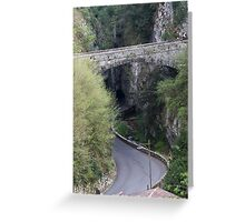 street in the canyon Greeting Card