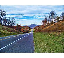 A Long Fall Road Photographic Print