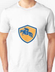 Equestrian Show Jumping Side Shield Retro Unisex T-Shirt