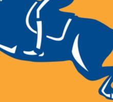 Equestrian Show Jumping Side Shield Retro Sticker