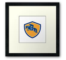 Equestrian Show Jumping Side Shield Retro Framed Print