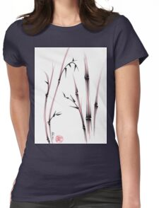 Tenderness  -  Sumie dry brush pen bamboo painting Womens Fitted T-Shirt