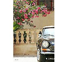 Bougainvillea And Sports Car Photographic Print