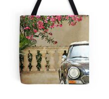 Bougainvillea And Sports Car Tote Bag