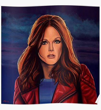 Julianne Moore Painting Poster