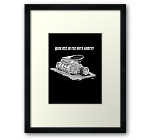 Mad Max Supercharger  Framed Print