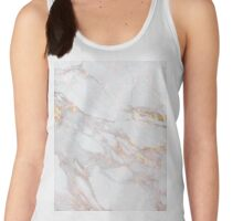 Chic Elegant Gold Marble Pattern Women's Tank Top