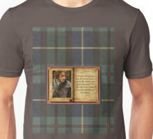 Outlander quote in book on plaid Unisex T-Shirt