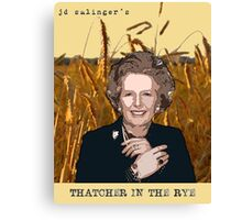 JD Salinger's Thatcher in the Rye Canvas Print