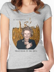JD Salinger's Thatcher in the Rye Women's Fitted Scoop T-Shirt