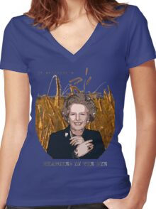JD Salinger's Thatcher in the Rye Women's Fitted V-Neck T-Shirt