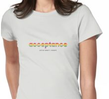 Acceptance Womens Fitted T-Shirt