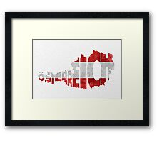 Austria Typographic Map Flag Framed Print
