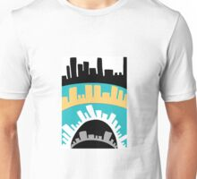 Turqoise Cityscape Abstract  Unisex T-Shirt