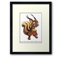 HOLD ME TIGHT/CLOSE Framed Print