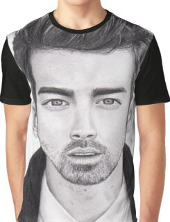 Joe Jonas Portrait Graphic T-Shirt