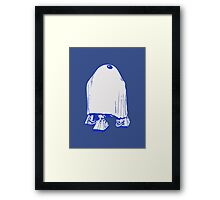 HALLOWEEN DROID GHOST Framed Print