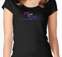 Transgender LGBT Pride Live Your Truth Women's Fitted Scoop T-Shirt