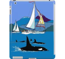 Sailing along the Orcas iPad Case/Skin