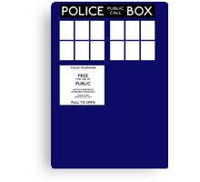 Tardis Doctor Who Canvas Print