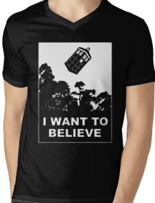 I Want To Believe In Tardis Mens V-Neck T-Shirt