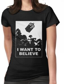 I Want To Believe In Tardis Womens Fitted T-Shirt