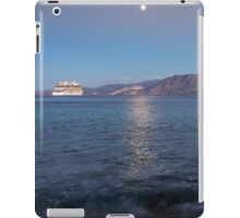 Cruise Ship Departing in the Moonlight iPad Case/Skin