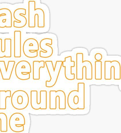 wu tang clan cream cash rules everything around me rap music hip hop Sticker