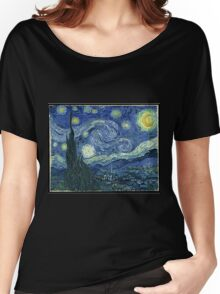 Vincent Van Gogh - The Starry night  Women's Relaxed Fit T-Shirt